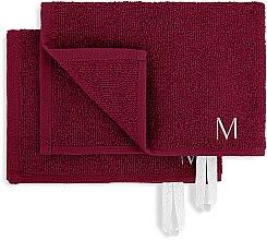 """Дорожный набор полотенец для лица, бордовые """"MakeTravel"""" - Makeup Face Towel Set — фото N2"""