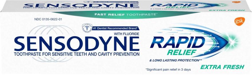Зубная паста для чувствительных зубов - Sensodyne Rapid Extra Fresh — фото N1