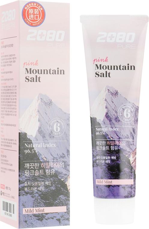 Зубная паста для профилактики заболеваний дёсен с розовой гималайской солью - Aekyung 2080 Pink Mountain Salt