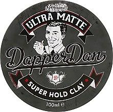 Парфумерія, косметика Глина для укладання волосся матова - Dapper Dan Ultra Matte Super Hold Clay