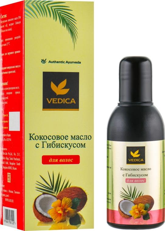 Кокосовое масло с гибискусом для волос - Veda Vedica