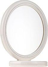Духи, Парфюмерия, косметика Зеркало двустороннее круглое, на подставке, 15 см, 9502, белое - Donegal Mirror
