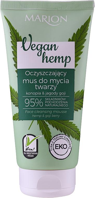 Очищающий мусс для лица - Marion Vegan Hemp Hemp & Goji Face Cleansing Mousse