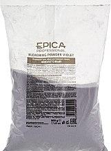 Духи, Парфюмерия, косметика Пудра для осветления, фиолетовая - Epica Professional Bleaching Powder Violet With Mint