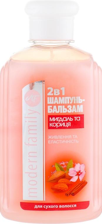 "Шампунь-бальзам ""Миндаль и корица"" - Pirana MODERN FAMILY"