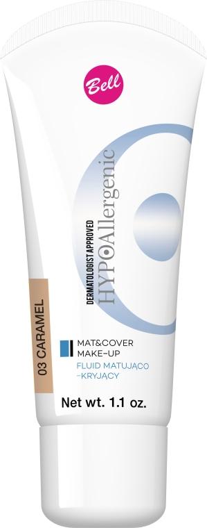 Бархатистый тональный флюид - Bell HypoAllergenic Mat&Cover Make-Up