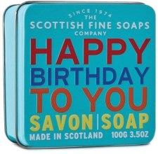 "Духи, Парфюмерия, косметика Мыло ""С днём рождения"" - Scottish Fine Soaps ""Happy Birthday"" Soap Tin"