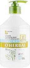 Духи, Парфюмерия, косметика Моющее молочко для интимной гигиены для чувствительной кожи с экстрактом льна - O'Herbal