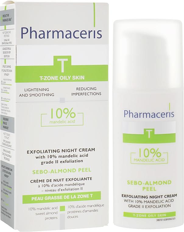 Ночной крем-пилинг с 10% миндальной кислотой - Pharmaceris T Sebo-Almond-Peel Exfoliting Night Cream