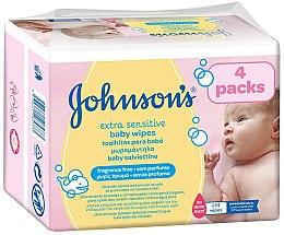 Духи, Парфюмерия, косметика Влажные салфетки, 224 шт. - Johnson's® Baby Extra Sensitive