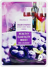 Духи, Парфюмерия, косметика Тканевая маска на основе черники и красного винограда - Deoproce Color Synergy Effect Sheet Mask Purple