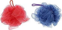 "Духи, Парфюмерия, косметика Губка банная сетчатая ""Bant"", красная + синяя - Акватория"