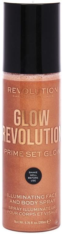 Хайлайтер для лица и тела - Makeup Revolution Glow Revolution Prime Set Glow