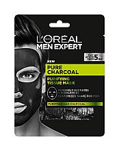 Духи, Парфюмерия, косметика Тканевая маска для кожи лица - L'Oreal Paris Men Expert Pure Charcoal