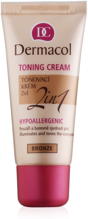 Тональный крем увлажняющий 2в1 - Dermacol Make-Up Toning Cream