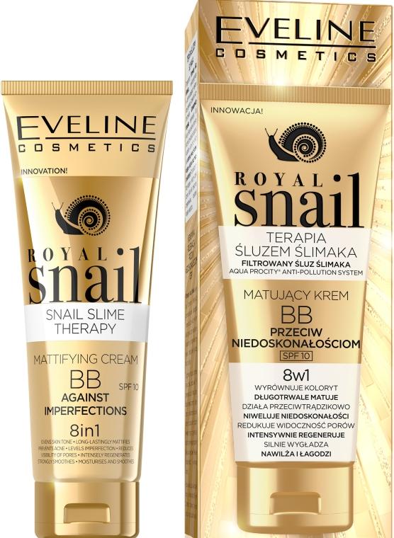 Матирующий BB-крем - Eveline Cosmetics Royal Snail BB Cream 8in1