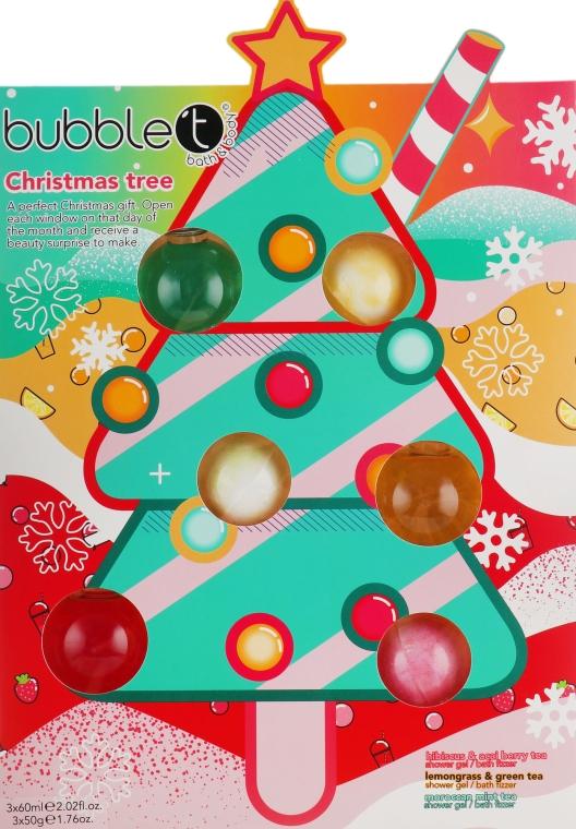 Новогодний подарочный набор - Bubble T Christmas Tree Bath Selection (bath/bomb/3x50g + sh/gel/3x60g)