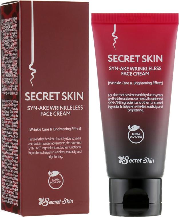 Антивозрастной крем для лица с пептидами змеиного яда - Secret Skin Syn-Ake Wrinkleless Face Cream