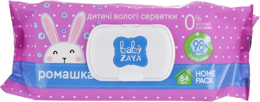 """Влажные салфетки """"Ромашка"""", 84шт - Baby Zaya"""