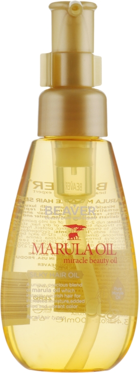 Шелковое масло марулы для глубокого восстановления и разглаживания волос - Beaver Professional Nourish Marula Silky Hair Oil
