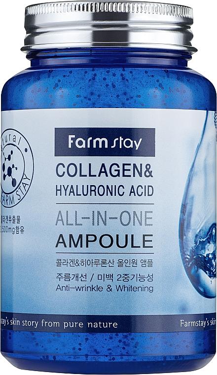 Ампульная сыворотка с коллагеном и гиалуроновой кислотой - FarmStay Collagen & Hyaluronic Acid All-In-One Ampoule — фото N2