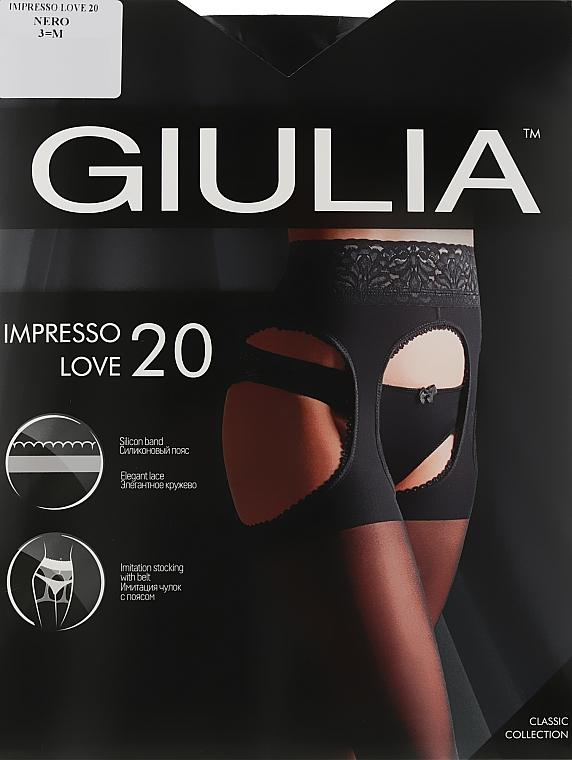 "Колготки для женщин ""Impresso Love"" 20 Den, nero - Giulia"