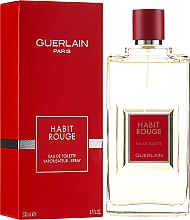 Guerlain Habit Rouge - Туалетная вода — фото N2