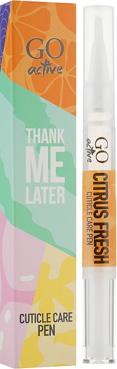 Масло для кутикулы - GO Active Thank Me Later Citrus Fresh Cuticle Care Pen