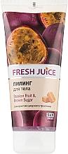 Парфумерія, косметика Пілінг для тіла - Fresh Juice Passion Fruit & Brown Sugar