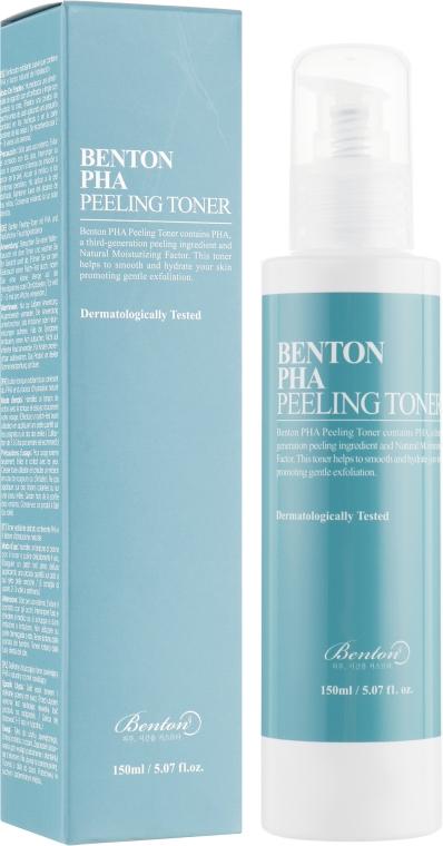 Тонер-эксфолиант с лактобионовой кислотой - Benton PHA Peeling Toner