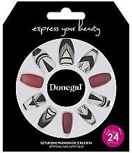 Духи, Парфюмерия, косметика Набор искусственных ногтей 3044, красный с белым - Donegal Express Your Beauty