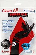 Духи, Парфюмерия, косметика Перчатки латексные, неопудренные, черные, размер L - Sibel Clean All Superior A.Q.L 1,5