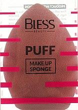 Духи, Парфюмерия, косметика Спонж скошенный, коричневый - Bless Beauty PUFF Make Up Sponge