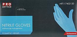 Духи, Парфюмерия, косметика Перчатки нитриловые синие, размер L - PRO service Standard