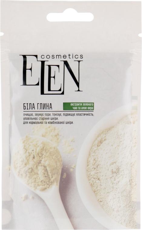Глина белая с экстрактом зеленого чая и алоэ-вера - Elen Cosmetics
