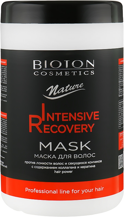 Маска для волос - Bioton Cosmetics Nature Professional Intensive Recovery Mask