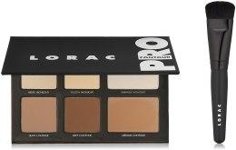 Парфумерія, косметика Набір для кольорокорекції обличчя - Lorac Pro Contour Palette & Pro Contour Brush