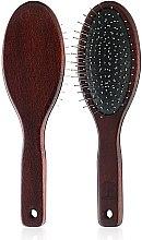 Духи, Парфюмерия, косметика Массажная щетка для волос, 4773, с темным деревянным корпусом - Top Choice