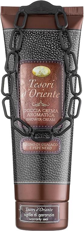 Tesori d`Oriente Legno di Guajaco e Pepe Nero - Ароматический крем для душа