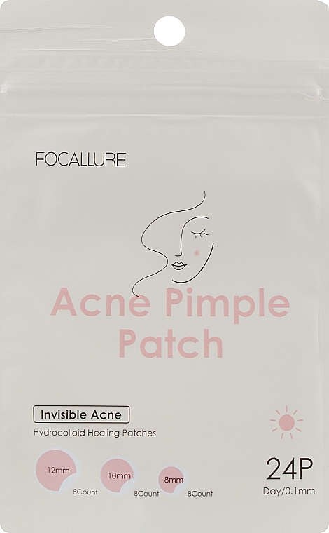 Патчи от акне - Focallure Acne Pimple Patch Invisible Acne