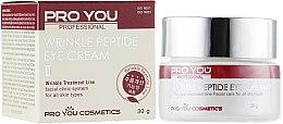 Духи, Парфюмерия, косметика Крем для кожи вокруг глаз против морщин с пептидами - Pro You Professional Wrinkle Peptide Eye Cream