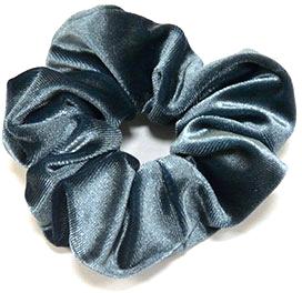 Резинка для волос велюровая P1600-3, 11 см d-5,5 см, темно-бирюзовая - Akcent