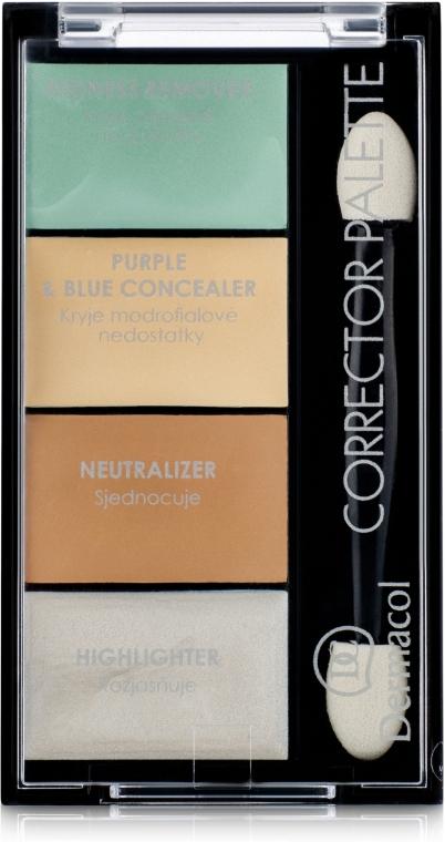 Палитра корректоров и хайлайтера - Dermacol Corrector Palette