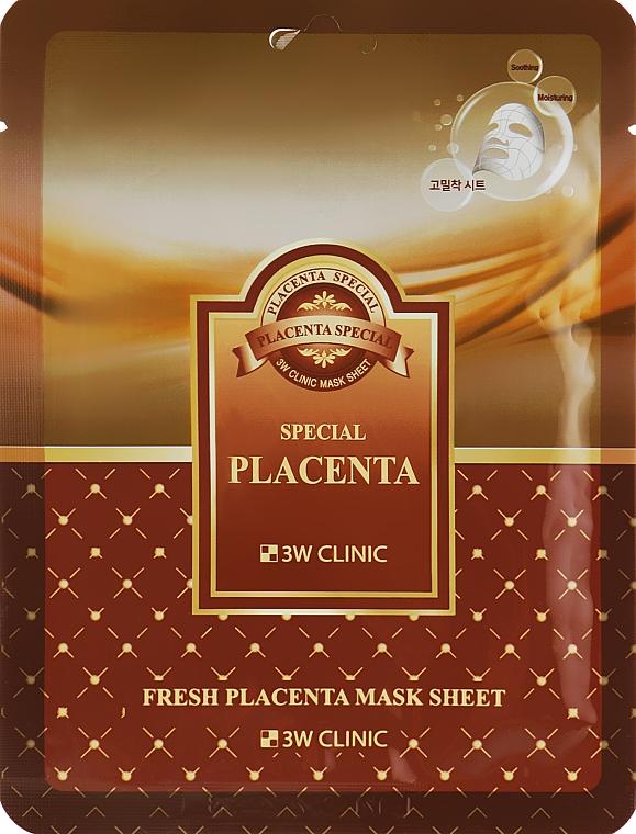 Восстанавливающая маска с экстрактом плаценты - 3W Clinic Fresh Placenta Mask Sheet