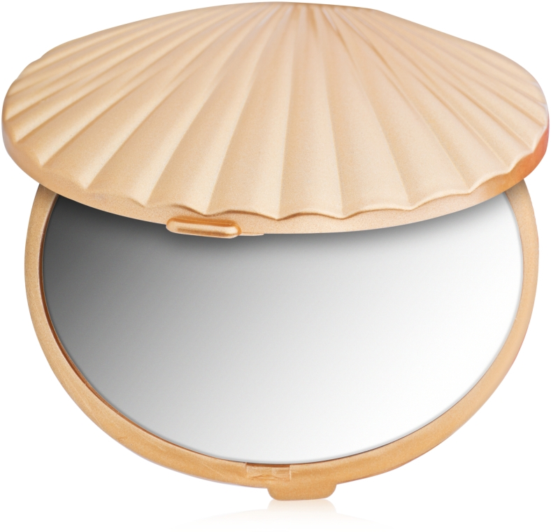 Зеркало двухстороннее ракушка, золото - Ruby Rose Delux Two-Way Mirror
