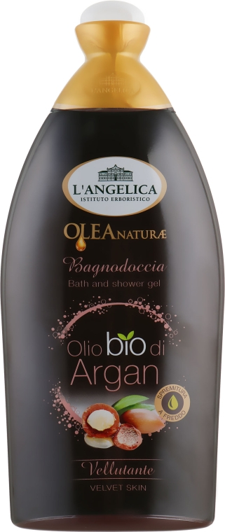 """Гель для душа и ванны """"Жидкое золото"""" с аргановым маслом - L'Angelica Officinalis Emollient with Argan Oil Bath&Shower Gel"""