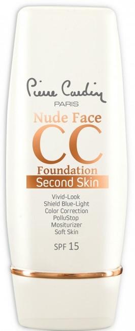 СС-крем - Pierre Cardin Nude Face CC Foundation Second Skin SPF 15