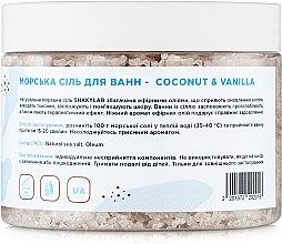 "Соль морская для ванн ""Coconut & Vanilla"" - SHAKYLAB Natural Bath Salt — фото N4"