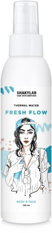 """Термальная вода с успокаивающим эффектом """"Fresh Flow"""" - SHAKYLAB Thermal Water For Body & Face"""