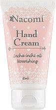 Духи, Парфюмерия, косметика Крем для рук - Nacomi Hand Cream With Cold-Pressed Inca Inchi Oil